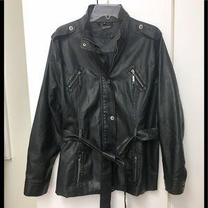 Awesome 😎 Jou Jou pleather jacket 🧥! 💦